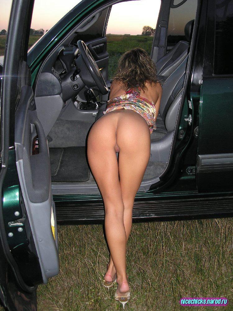 голые жены в авто фото